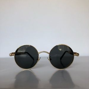 877eed8daec Accessories - Black   Gold Round Frame Sunglasses
